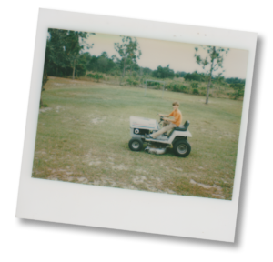 Me on a Mower in the '70s