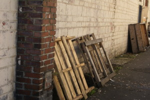Pallets Behind Building