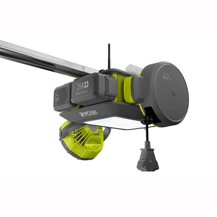 the ryobi modular garage door opener garagespot