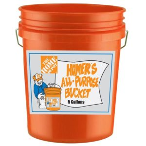 Homer Bucket from Home Depot