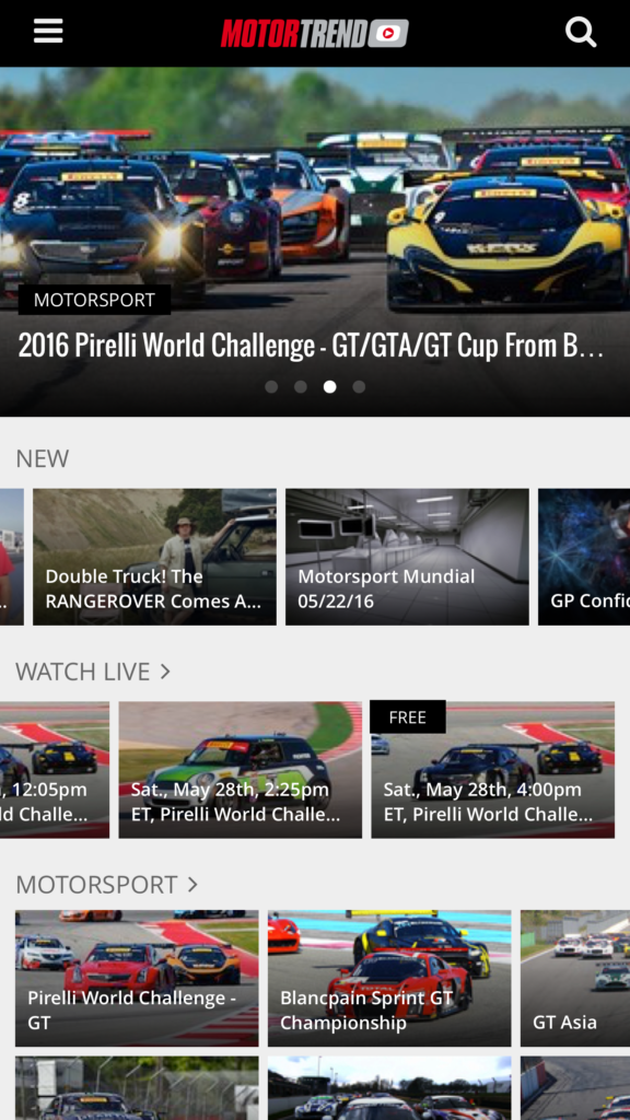 Motor Trend On-Demand - IOS Screenshot