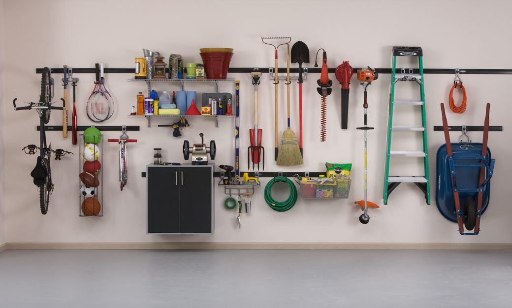 garage wall organizer affordable garage organization get on the quot fasttrack 15759