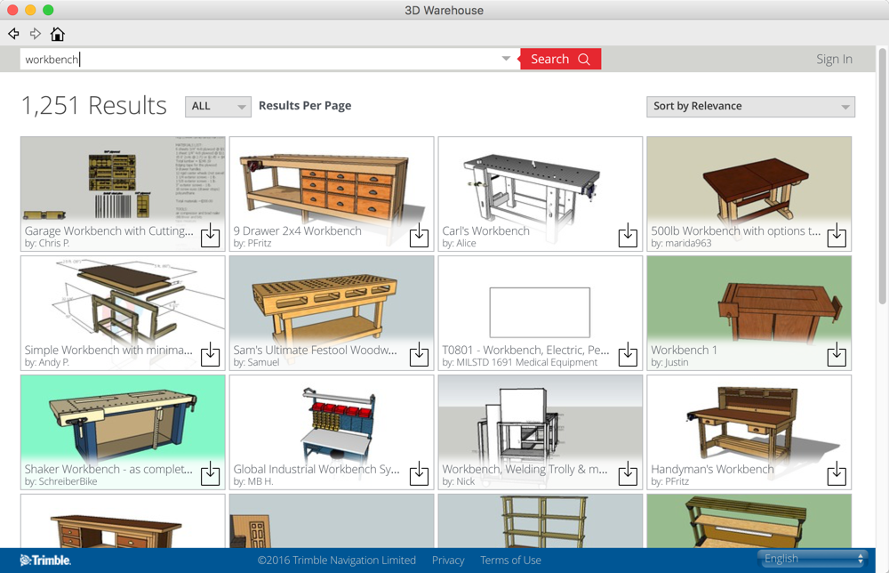 SketchUp 3D Warehouse - Workbench