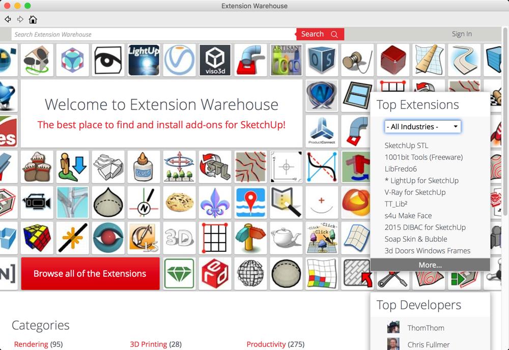 SketchUp Extensions