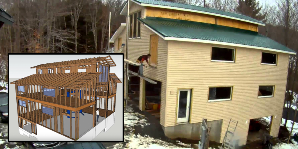 watch one guy build a three car four story garage in four