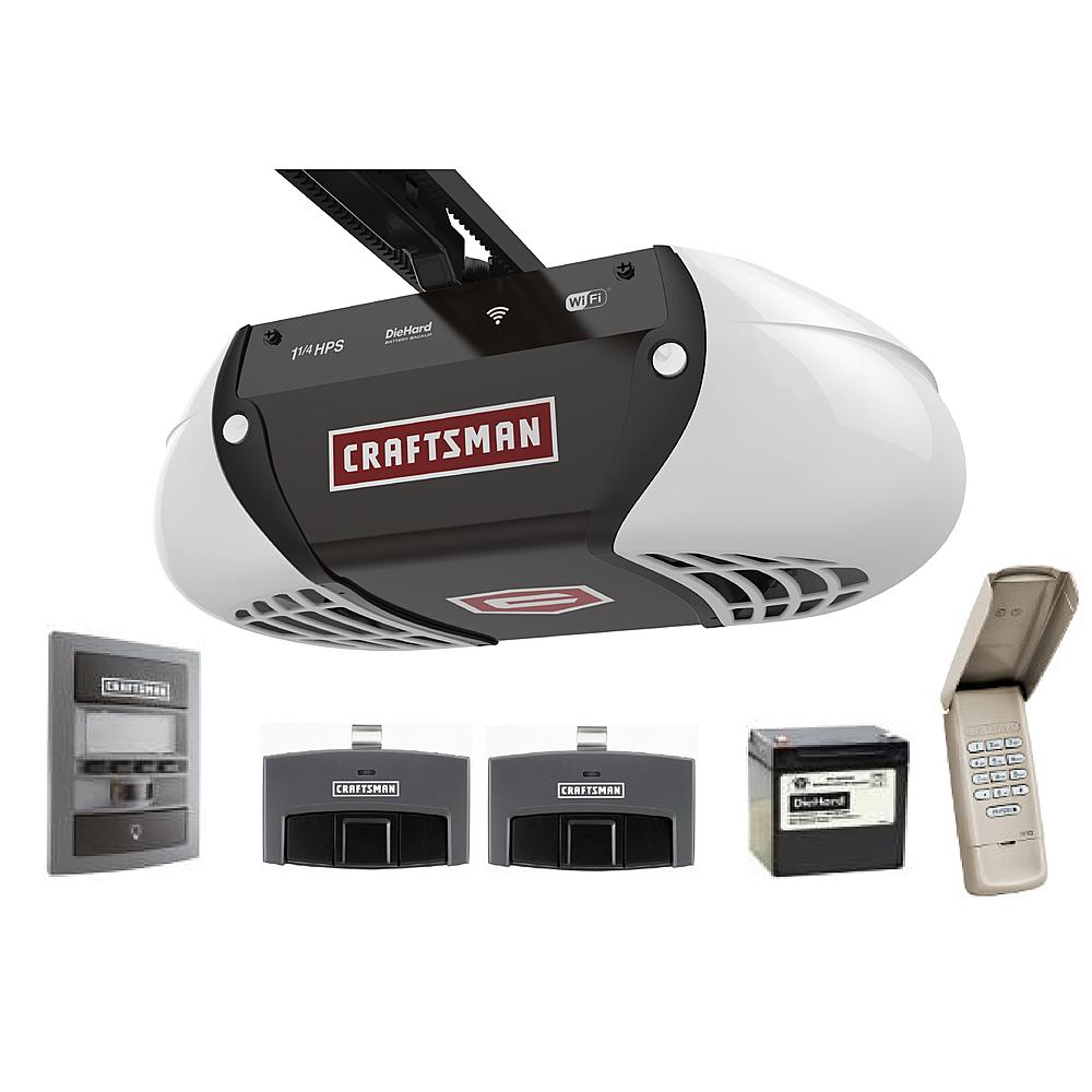 The New Craftsman Wi-Fi Garage Door Opener