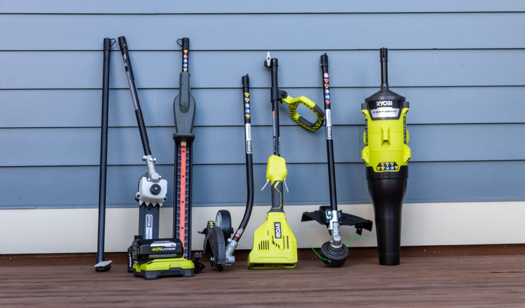Hands On The Ryobi Outdoor 40v Brushless Expand It System Garagespot