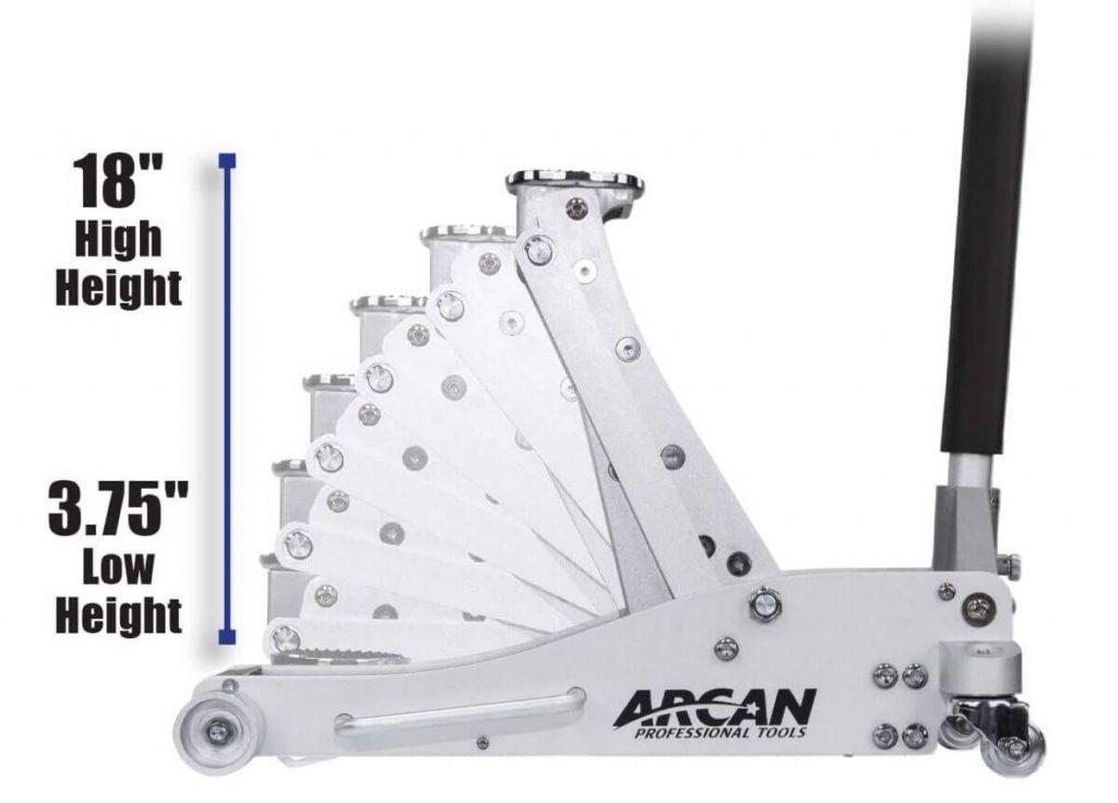 Arcan ALJ3T Height range