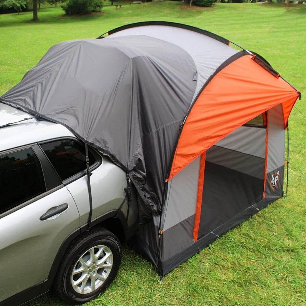 Rightline Gear SUV Tent attached to SUV