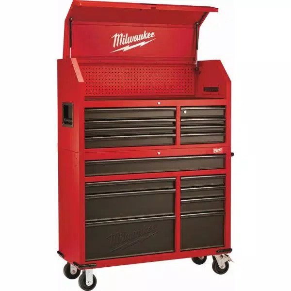 MILWAUKEE 48-22-8510-8520 Steel Tool Chest and Rolling Cabinet – 46″